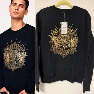 ザラ(ZARA)の売切り‼️ZARA MAN 2018AW 刺繍スパンコールスウェットシャツ M(スウェット)