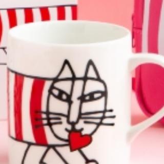 リサラーソン(Lisa Larson)のマイキーバレンタイン限定マグカップ(マグカップ)