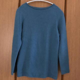 トヨボウ(東洋紡)の糸衣 カシミアセーター(ブルー)(ニット/セーター)