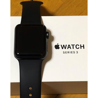 アップルウォッチ(Apple Watch)のApple Watch series3 38mm Black(その他)