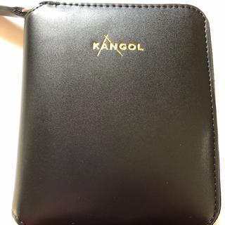 release date 4101b b0df6 KANGOL 二つ折 財布 ブラック ユニセックス