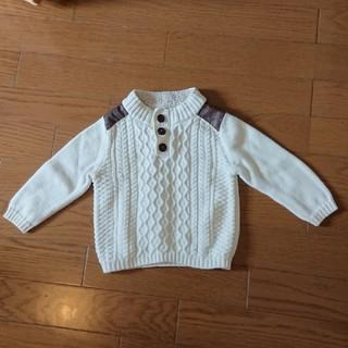 85ae1331dc0c4 ベビーギャップ(babyGAP)の☆baby gap☆ケーブル編みセーター☆ホワイト80