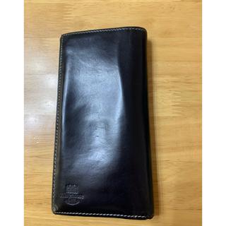 ホワイトハウスコックス(WHITEHOUSE COX)のホワイトハウスコックス 長財布 折財布 ブラック×グリーン(長財布)