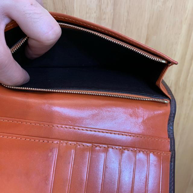 WHITEHOUSE COX(ホワイトハウスコックス)のWhite house cox ホワイトハウスコックス 長財布 ハバナ×オレンジ メンズのファッション小物(長財布)の商品写真