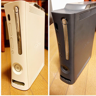 エックスボックス360(Xbox360)の【ジャンク】XBOX360 120GB 本体 白&黒(家庭用ゲーム本体)