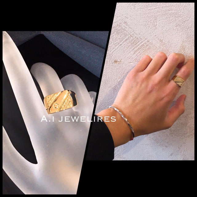 k18 18金 シンプル メンズ リング  メンズのアクセサリー(リング(指輪))の商品写真