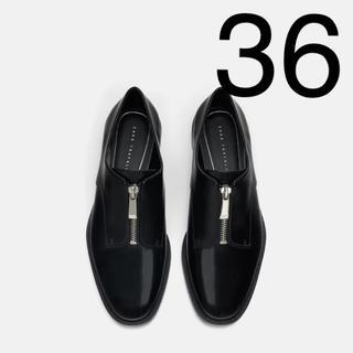 ザラ(ZARA)のZARA  ジップ付き ローファー ブルーチャー(ローファー/革靴)