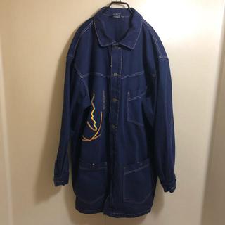カールカナイ(Karl Kani)の良品 90s カールカナイ 刺繍ロゴ入り カバーオール コート XL(カバーオール)