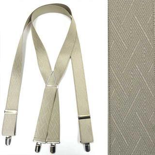 日本縫製 35mm ゲバルト サスペンダー ベルギーゴム 籠目 ベージュ(サスペンダー)