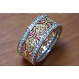 750 カールブラックバーン ダイヤモンド サファイア エタニティ リング(リング(指輪))