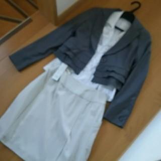シマムラ(しまむら)のフリルジャケットMフリルシャツ新品ベージュスカート3、4点セレモニーセット(セット/コーデ)