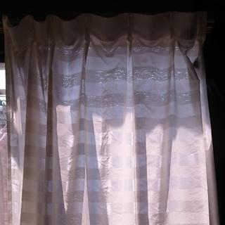 MUJI (無印良品) - 無印良品 レースカーテン2枚セット