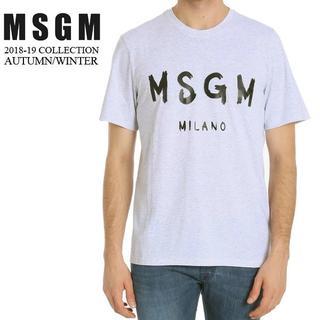 エムエスジイエム(MSGM)の【7】MSGM 18aw メンズ ライトグレー 半袖 Tシャツ size S(Tシャツ/カットソー(半袖/袖なし))