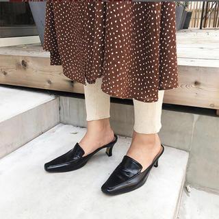 トゥデイフル(TODAYFUL)のtodayful スクエアサイドローファー(ローファー/革靴)