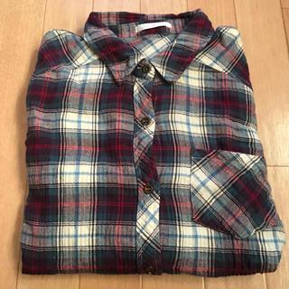 シマムラ(しまむら)のバックプリントが可愛いチェックシャツ(シャツ/ブラウス(長袖/七分))