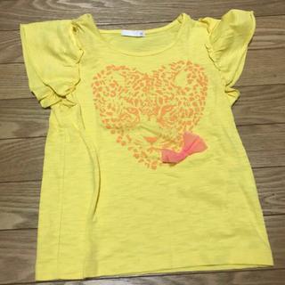 ジーユー(GU)のGU 子供服 キッズ 女の子 120 Tシャツ イエロー タイガー 虎(Tシャツ/カットソー)