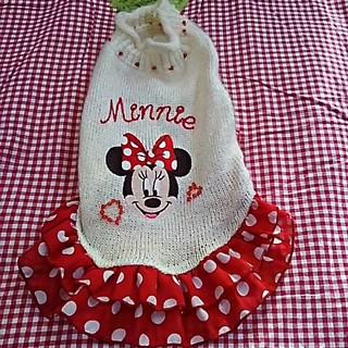 ディズニー(Disney)の犬服ミニーマウスワンピース(犬)