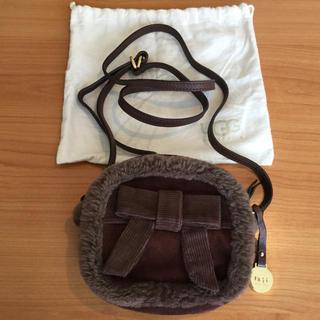 アグ(UGG)の新品【UGG】アグ ムートンxスエード  斜めがけバッグ 茶色(ハンドバッグ)