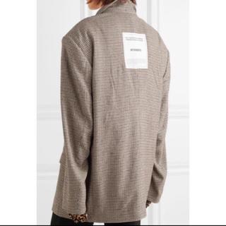 バレンシアガ(Balenciaga)のVETEMENTS logo blazer(テーラードジャケット)