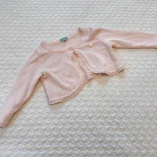 トッカ(TOCCA)のTOCCA ベビー ボレロカーディガン ピンク 長袖 80 新品未使用(カーディガン/ボレロ)