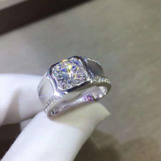 【1カラット】輝く1カラット モアサナイト ダイヤモンド リング(リング(指輪))