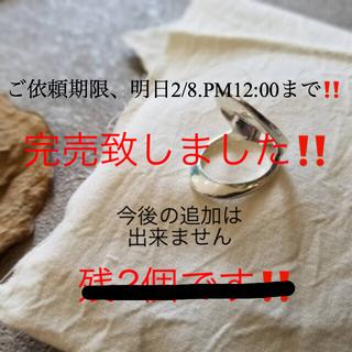 アリエス(aries)のaries mirage wリング‼️発注可能‼️2/8PM12時まで‼️(リング(指輪))