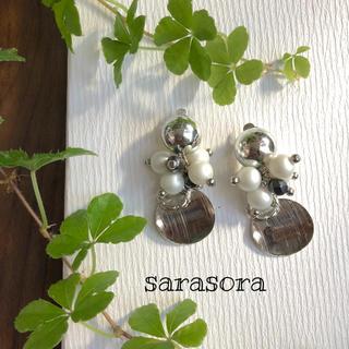 226 silver ×pearl ×bubbly earrings(ピアス)
