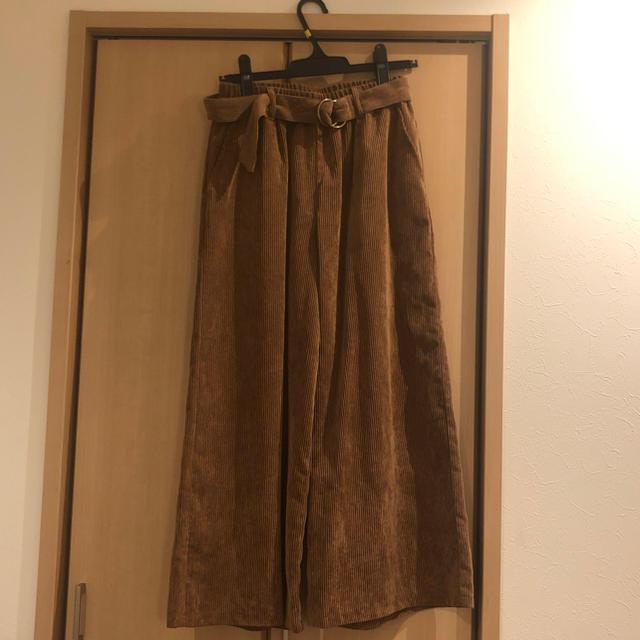 しまむら(シマムラ)のしまむら コーデュロイ ワイドパンツ レディースのパンツ(その他)の商品写真