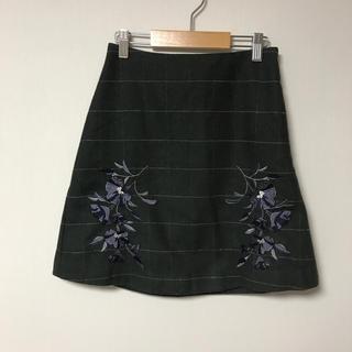 マーキュリーデュオ(MERCURYDUO)のマーキュリーデュオ*チェック*刺繍*スカート(ミニスカート)