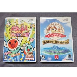 ウィー(Wii)のWii 太鼓の達人ドドーンと2代目! どうぶつ奇想天外  動作確認済(家庭用ゲームソフト)