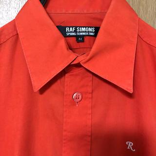 ラフシモンズ(RAF SIMONS)のRAFSIMONS オレンジシャツ (シャツ)