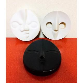 岡本太郎 太陽の顔 3個セット EXPO'70 当時物 大阪万博信楽焼コレクター
