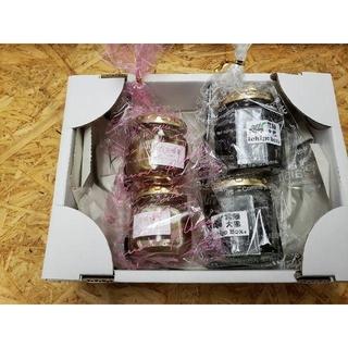 常陸大黒 煮豆 & おじいちゃんの蜂蜜 4個セット(菓子/デザート)