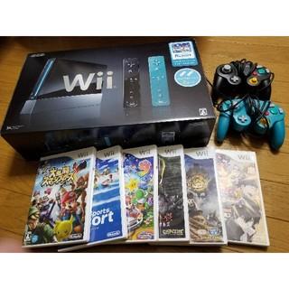 ウィー(Wii)のWii 本体 スマブラX マリオパーティ9 Wiiスポーツリゾート 他(家庭用ゲーム本体)