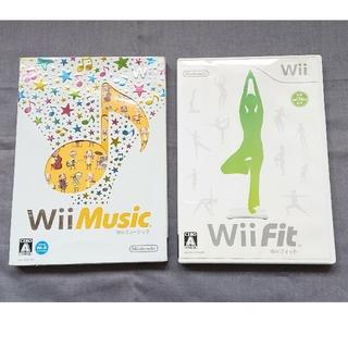 ウィー(Wii)のWii ミュージック  Wii  Fit  2枚セット  動作確認済(家庭用ゲームソフト)