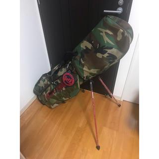 ブリーフィング(BRIEFING)のレアbriefing×beamsキャディバッグ迷彩柄新品同様品ヘッドカバー付(バッグ)