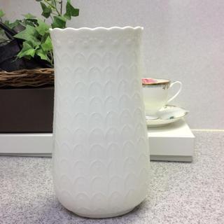 ナルミ(NARUMI)のNARUMI シルキーホワイト 花瓶 20㎝(花瓶)