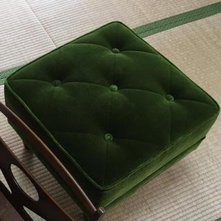 カリモクカグ(カリモク家具)のカリモク60 モケットグリーンオットマン(オットマン)