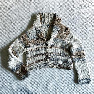アッシュペーフランス(H.P.FRANCE)のDOSA hand knit cardigan ドーサ ニット カーディガン(カーディガン)