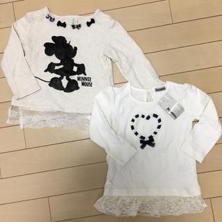 アカチャンホンポ(アカチャンホンポ)の新品タグ付!【レース付ロンT 】2枚セット(Tシャツ/カットソー)
