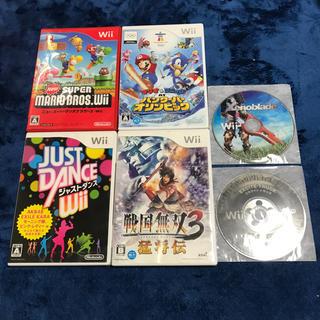ウィー(Wii)のWii ゲームソフト6本セット(家庭用ゲームソフト)