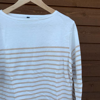 ムジルシリョウヒン(MUJI (無印良品))のボーダーカットソー 無印良品(Tシャツ/カットソー(七分/長袖))