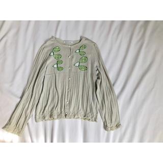 ミナペルホネン(mina perhonen)のミナペルホネン  カーディガン 刺繍(カーディガン)