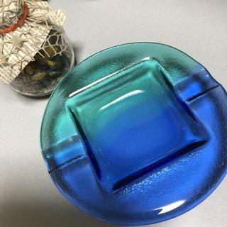 東洋佐々木ガラス - 佐々木ガラス❤️ブルーアッシュトレイ