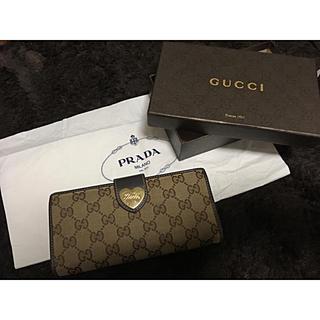 f2097e5eb3b4 グッチ(Gucci)のgucci 長財布 財布 ウォレット ハート GG柄 GUCCI グッチ(