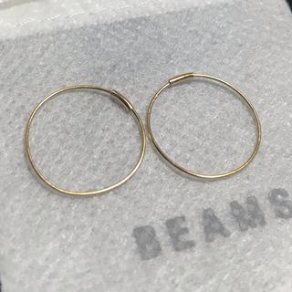 ビームス(BEAMS)のBEAMS 18k フープピアス 18金 k18 18金 ビームス 1.5cm(ピアス(両耳用))