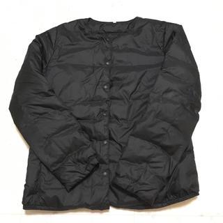 ムジルシリョウヒン(MUJI (無印良品))の無印良品 ダウンノーカラーブルゾン ブラック(ナイロンジャケット)