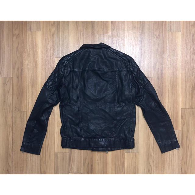 All Saints(オールセインツ)の新品 ALLSAINTS ラムレザー ダブルライダースジャケット オールセインツ メンズのジャケット/アウター(ライダースジャケット)の商品写真