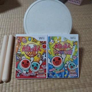 ウィー(Wii)のwii太鼓の達人セット ソフト2点付き(家庭用ゲームソフト)