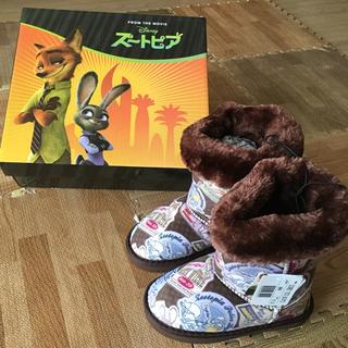 ディズニー(Disney)のズートピア ムートンブーツ 17cm(ブーツ)